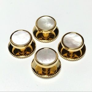 Other - 4 Mother of Pearl Shirt Stud Set With Screw Backs
